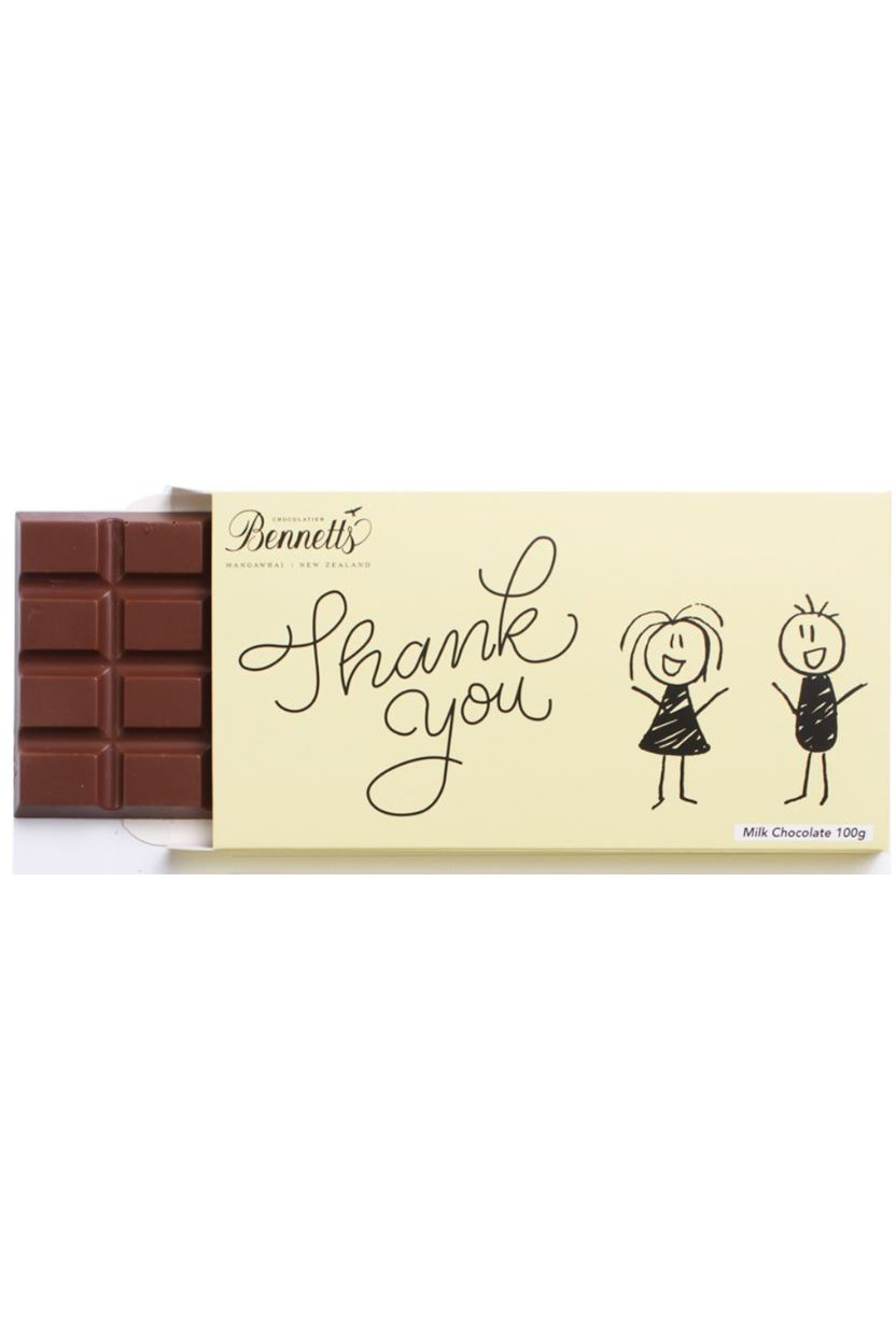 Thank You Message Milk Chocolate Bar