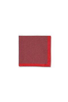 Basketweave Cotton Pocket Square RED 1