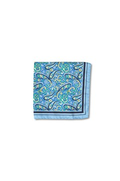 Folk Paisley Pocket Square BLU 1