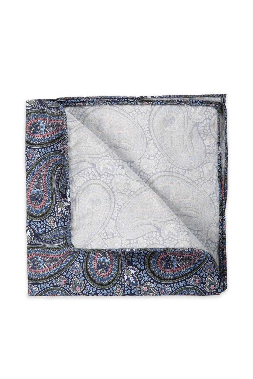 Botany Paisley Pocket Square