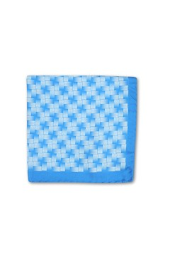 Basketweave Pocket Square BLU 1