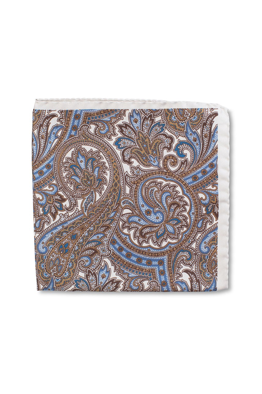 Autumn Paisley Pocket Square