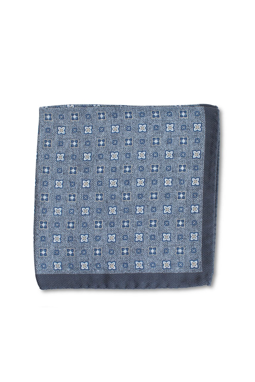 Double Print Foulard Pocket Square