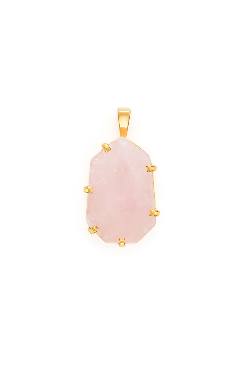 5th Symphony - Rose Quartz Gold Amulet