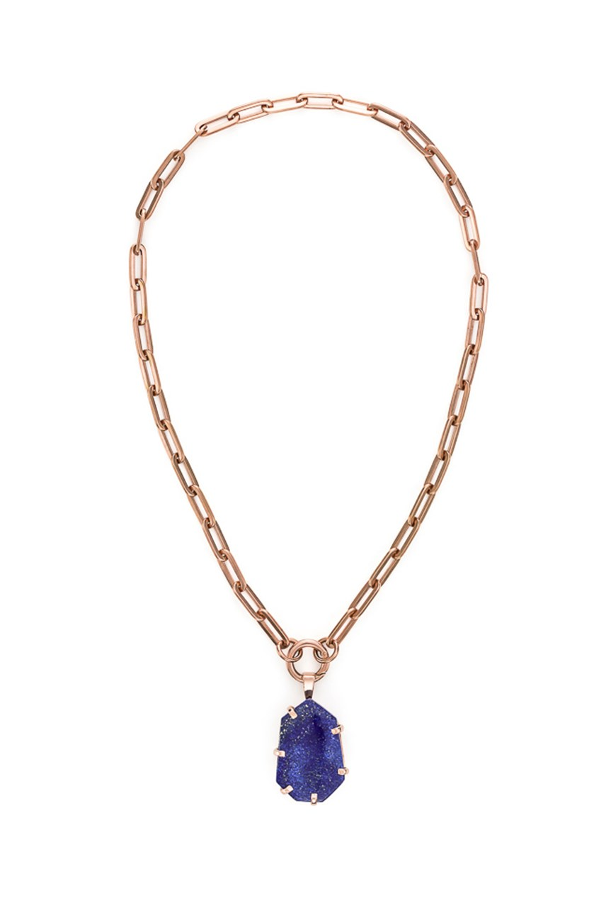 5th Symphony - Lapis Rose Gold Amulet
