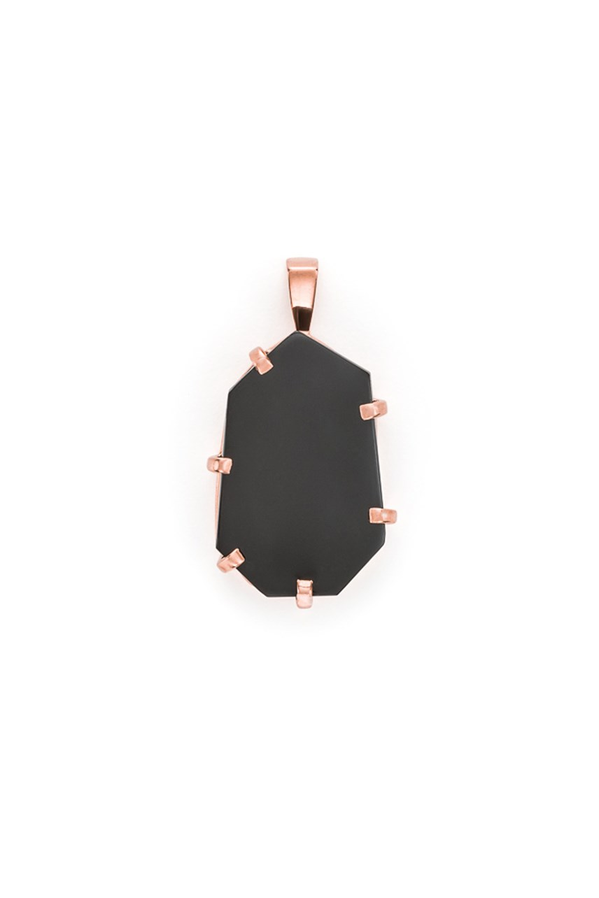 5th Symphony - Onyx Rose Gold Amulet