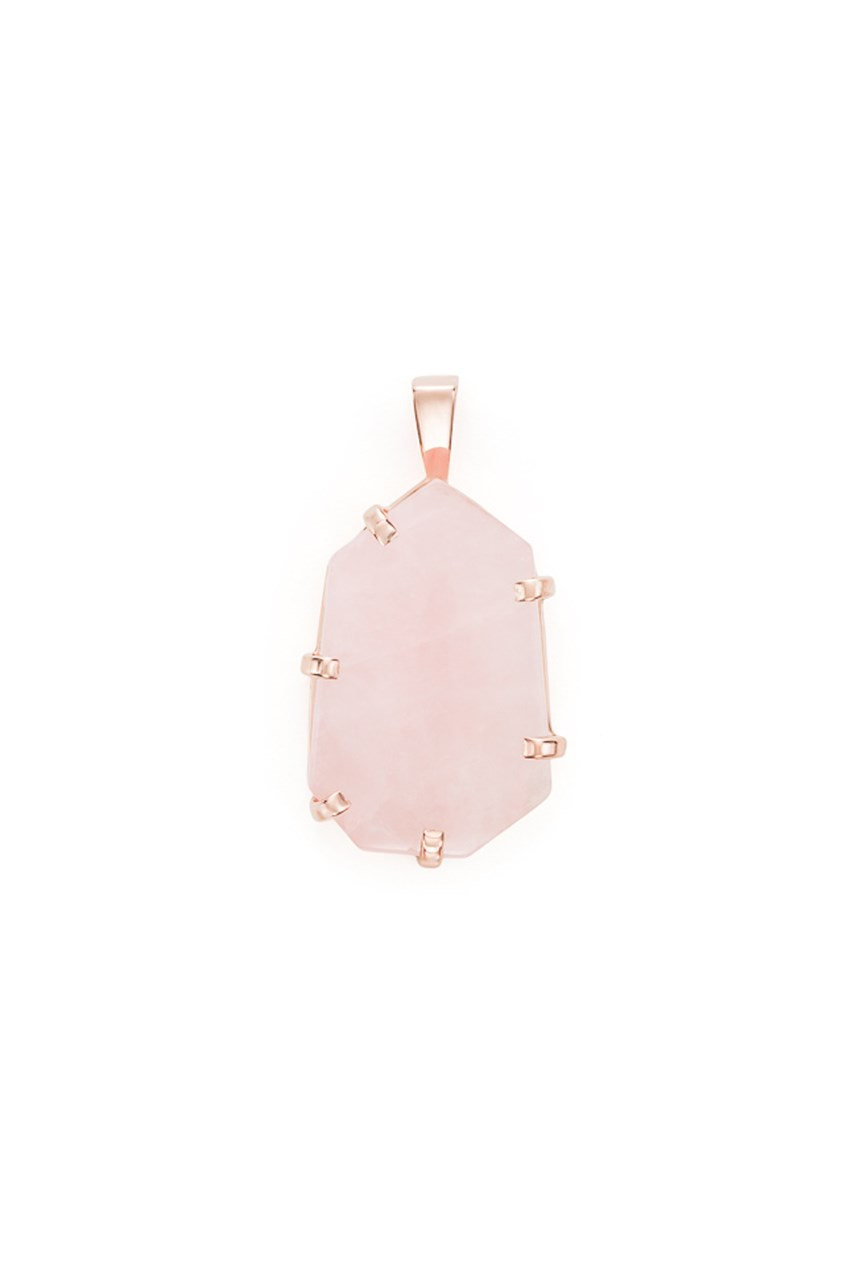 5th Symphony - Rose Quartz Rose Gold Amulet