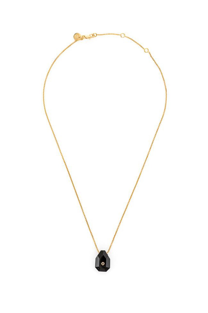 Earth - Onyx Fine Gold Necklace