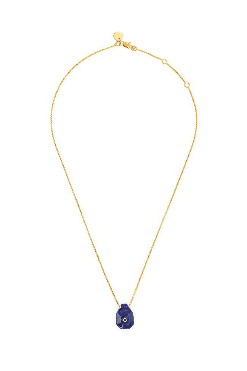 Earth - Sodalite Fine Gold Necklace