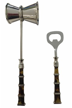 Bottle Opener and Jigger Set of 2 1