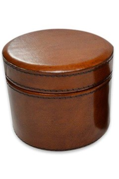 Round Trinket Box TAN 1