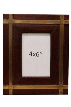 Leather Photo Frame with Metal 1