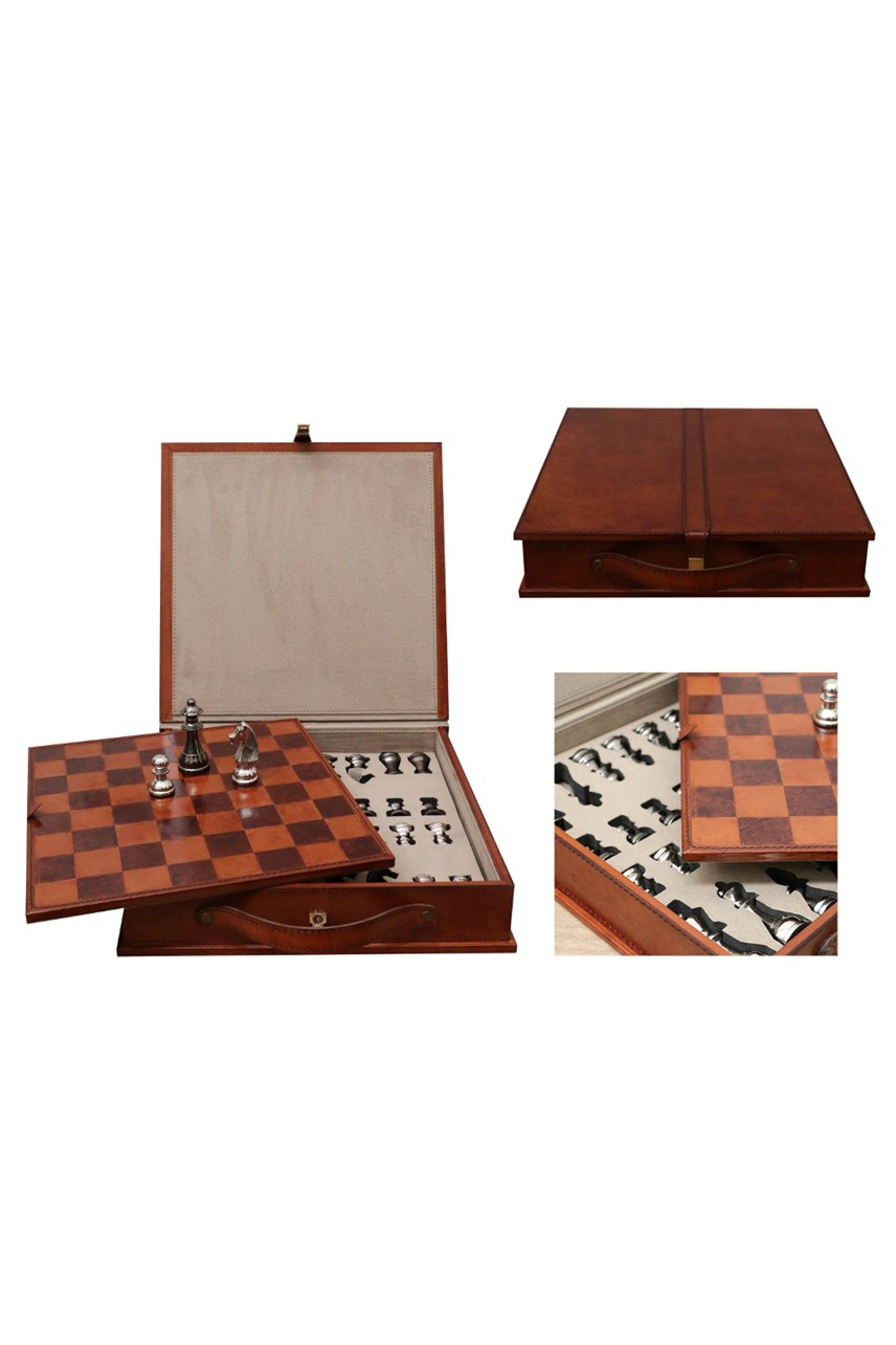 Leather Chess Set