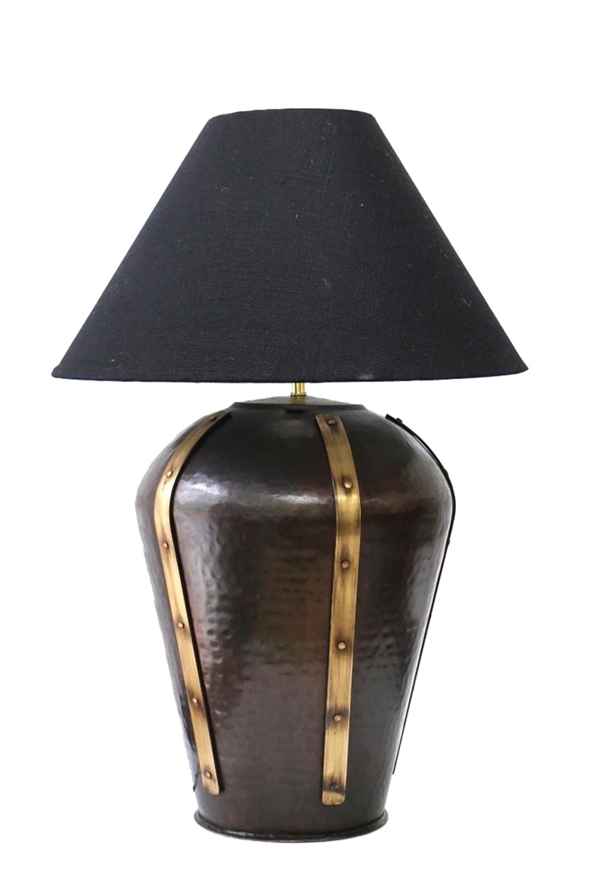 Urn Brass Lamp With Studs