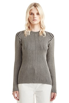 Ribbed Longsleeve Top - sage