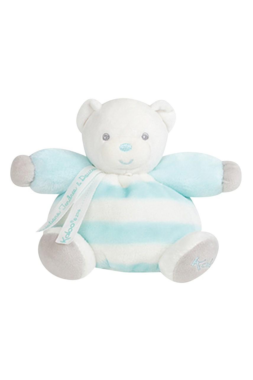Small Chubby Bear - Aqua/Cream