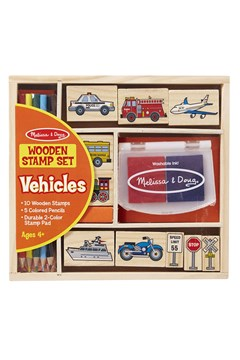 Vehicles Wooden Stamp Set 1