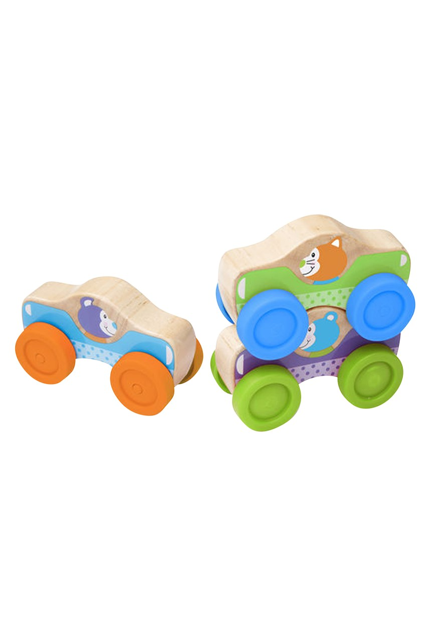 Animal Wooden Stacking Cars