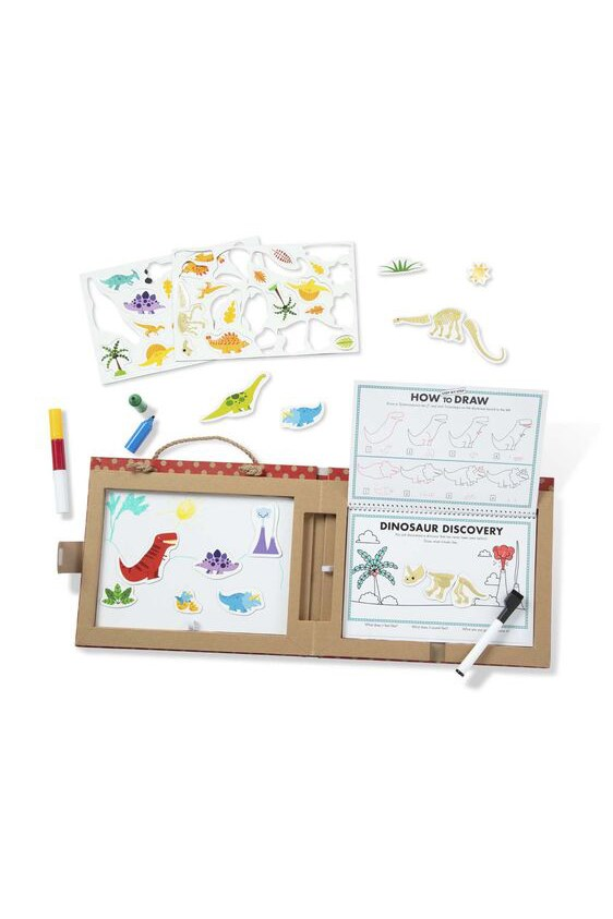 Play, Draw, Create Reusable Drawing & Magnet Kit - Dinosaurs