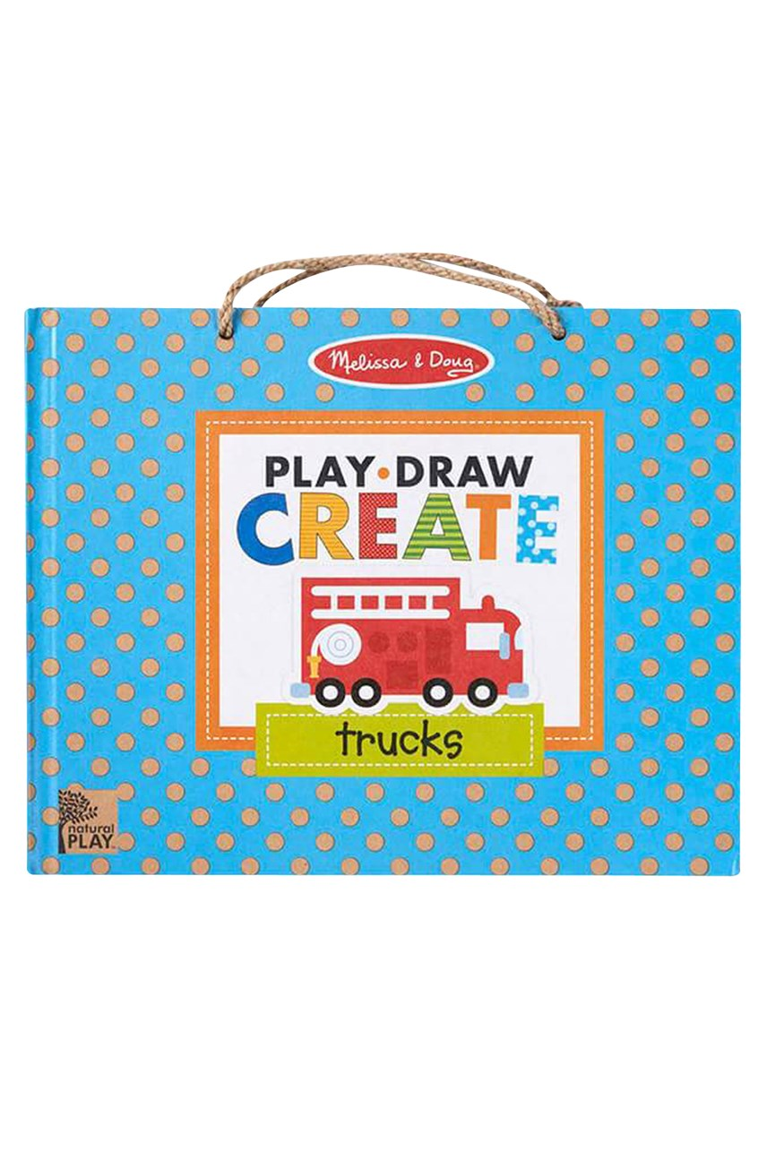 Play, Draw, Create Reusable Drawing & Magnet Kit - Trucks