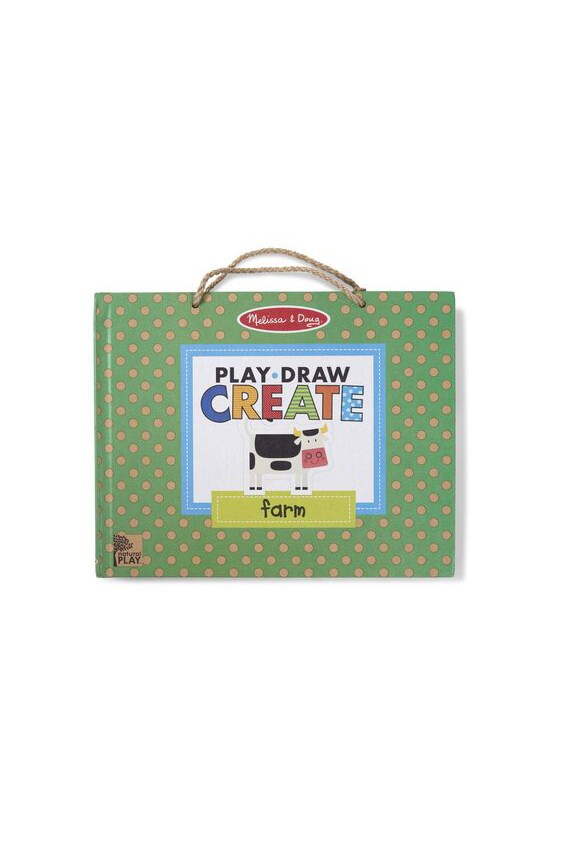 Play, Draw, Create Reusable Drawing & Magnet Kit - Farm