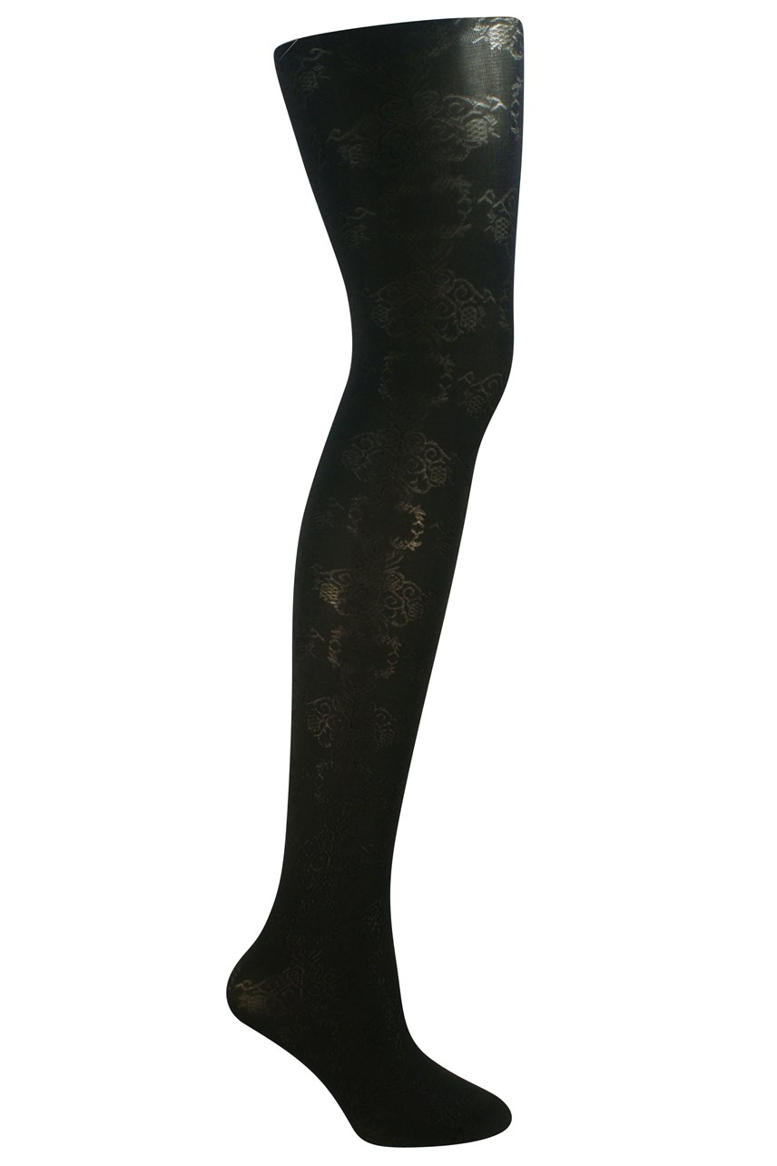 Shimmer Flower Opaque Tights