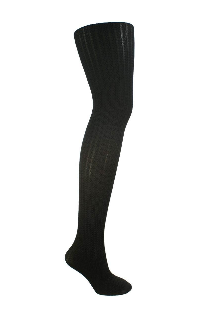 Plus Cable Patterned Opaque Tights