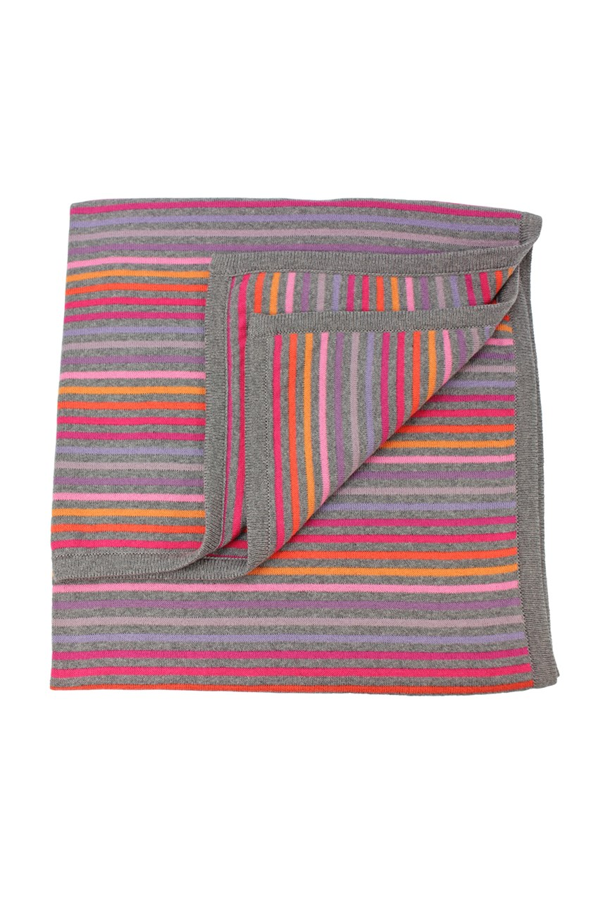 Rainbow Cotton Stripe Bassinet Blanket