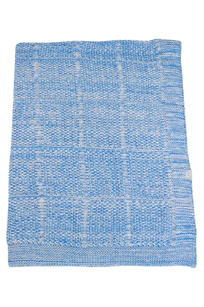Cotton Moss Stitch Knitted Stroller Blanket
