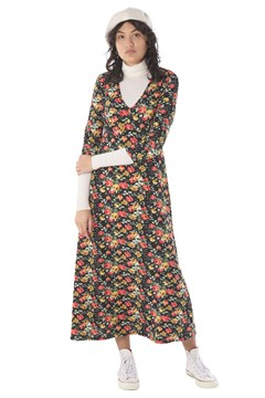 Rose Midi Dress BLACK 1
