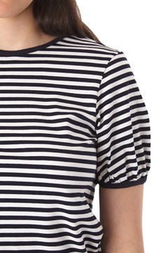 Stripey Top - ivory navy
