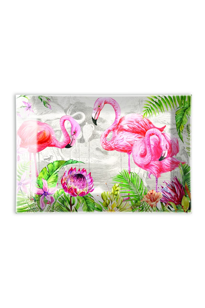 Flamingo Glass Soap Dish