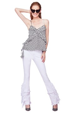 Cross Your Heart Top BLACK WHITE 1
