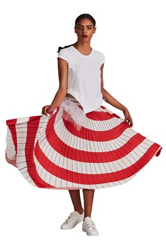 Spin Me Round Skirt RED STRIPE 1