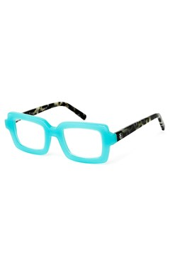 Square Dance Reading Glasses TURQUOISE TORT 1