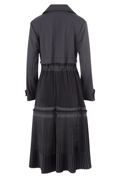 Pleat Me Half Way Coat - black