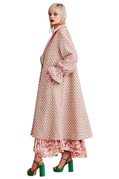 The Swing Of Things Coat - pink tweed