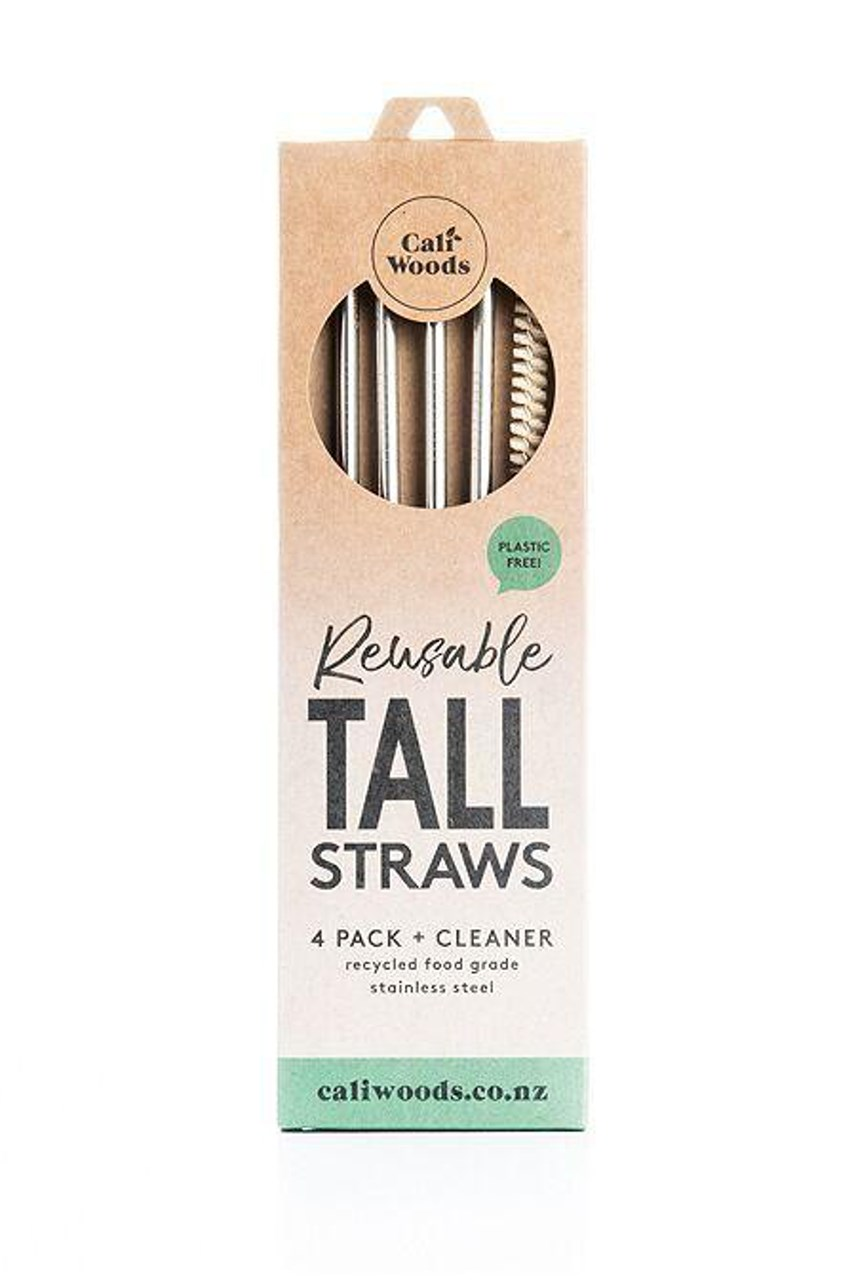 Tall Stainless Steel Straw Pack