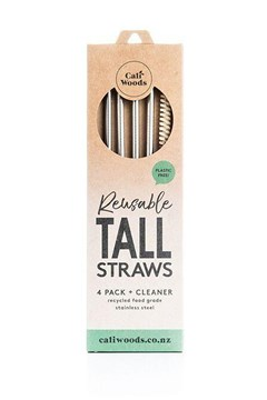 Tall Stainless Steel Straw Pack 1