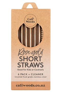 Rose Gold Short Straws - Pack of 6 ROSE GOLD 1