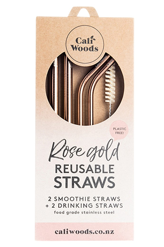 Rose Gold Mixed Straws - Pack of 4