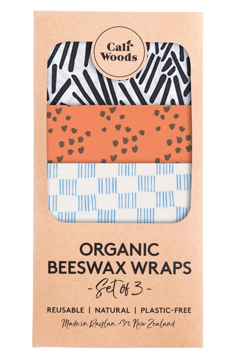 Prints Organic Beeswax Wraps - Set of 3 -