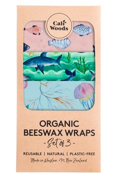 Ocean Love Organic Beeswax Wraps - Set of 3 1