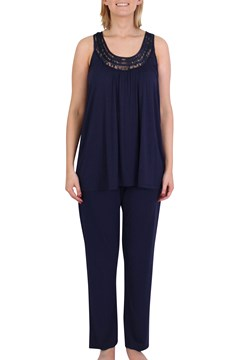 Sleeveless Lace PJ Set NAVY 1