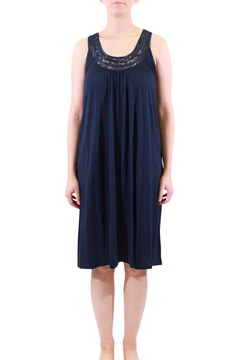 Sleeveless Lace Nightie NAVY 1