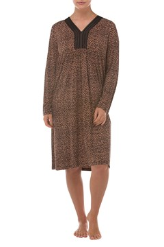 Leopard Night Dress - tan
