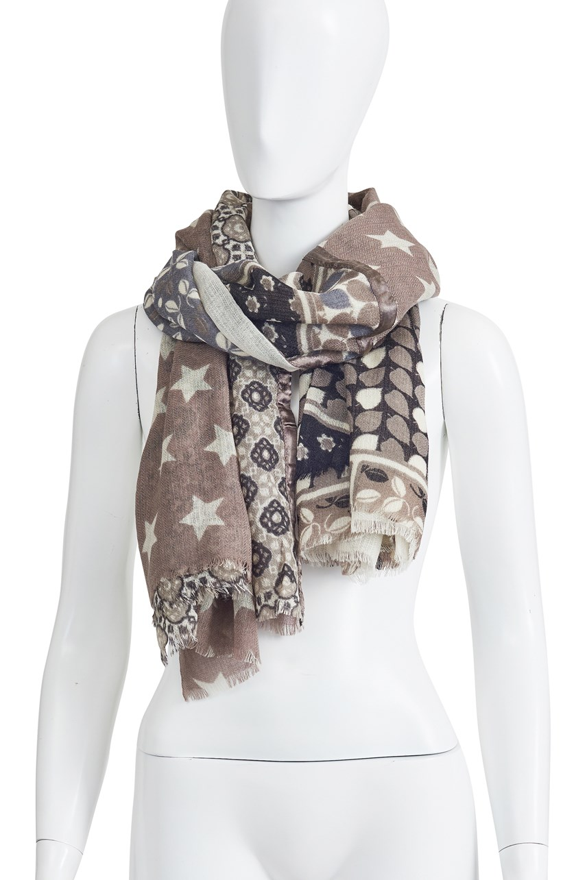 Black Cream Sally Scarf