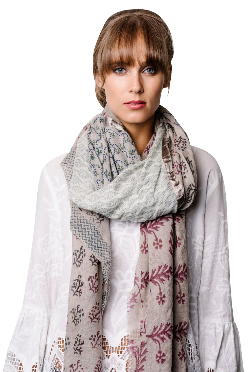 Taupe Natural Scarf