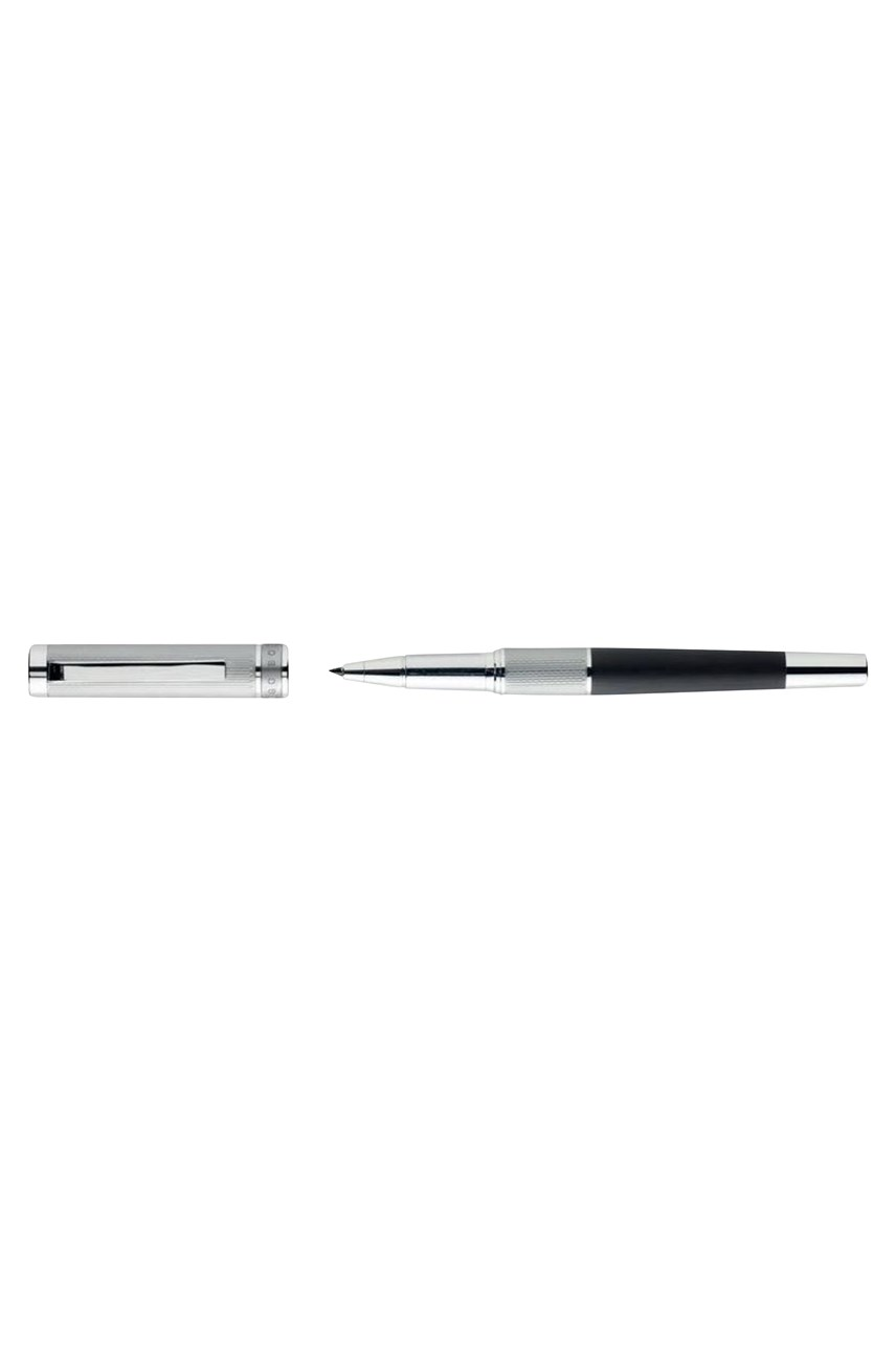 Dual Chrome Black Rollerball Pen