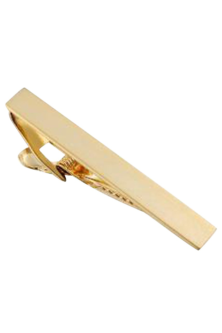 Brushed Gold Plated Tie Clip 50mm